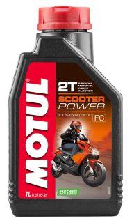 Motul 1L Scooter Power 2T öljy, täyssynteettinen